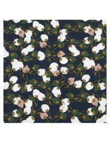 Tissu en viscose imprimée fleurie