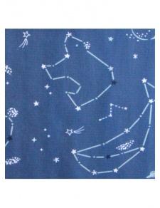 Tissu enfant en coton imprimé constellations