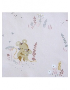 Tissu imprimé petites souris