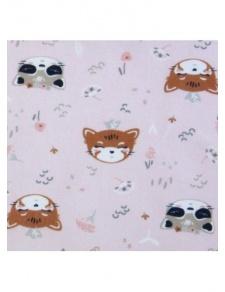 Tissu fillette imprimé tête de chat