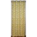 Rideau en jacquard motif floral 140x260 cm (Safran)
