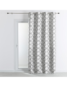 Rideau tissu jacquard avec motif croisillons 140x260 cm
