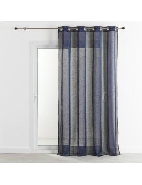 Voilage en étamine avec des rayures verticales colorés 140x260 cm