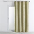 Rideau d'ameublement jacquard motif chevrons 140x260 cm (Jaune)