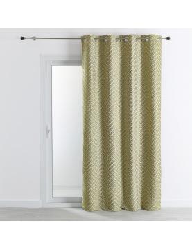 Rideau d'ameublement jacquard motif chevrons 140x260 cm