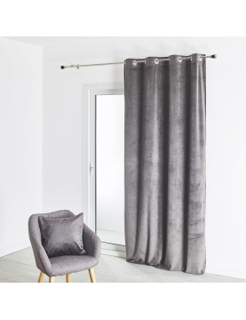 Rideau velours avec un motif 140x260 cm