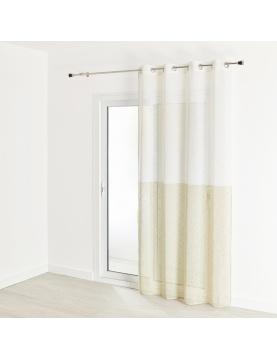 Visillo de estameña efecto lino bicolor 140 x 240 cm
