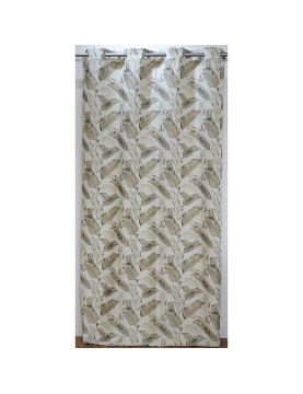 Cortina de mobiliario de Jacquard motivo vegetal 140 x 260 cm