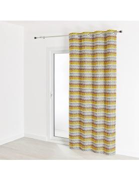 Rideau d'ameublement contemporain en jacquard 140x260 cm
