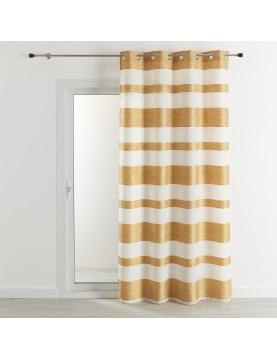 Voilage étamine rayures horizontales 140x240 cm