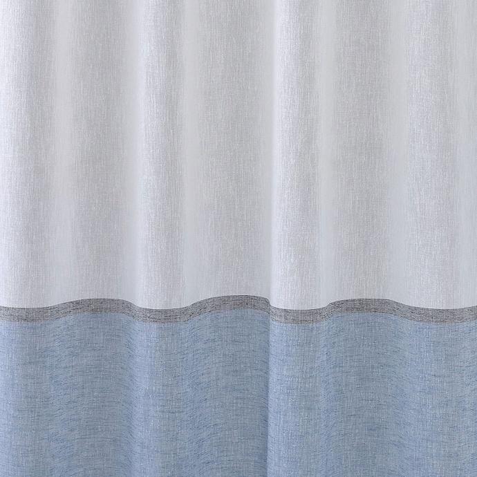 Voilage en étamine bicolore (Bleu Pétrole)