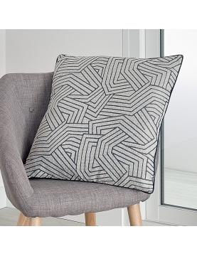 Housse de coussin à motifs géométriques