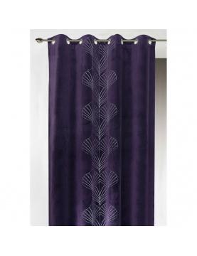 Cortina de mobiliario de terciopelo bordado