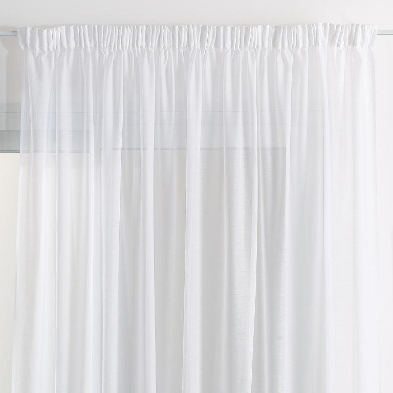 rideau voilage classique uni polyester