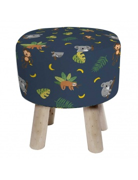Tabouret enfant impression jungle