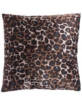 Cojín terciopelo estampado leopardo