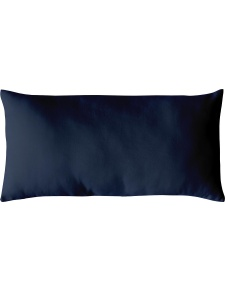 Coussin Non Déhoussable en Coton Uni  (Bleu Marine)