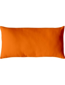 Coussin Non Déhoussable en Coton Uni  (Orange)