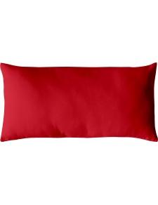 Coussin Non Déhoussable en Coton Uni  (Rouge)