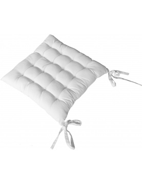Almohadilla de silla cuadrada 16 puntos de algodón y nuditos