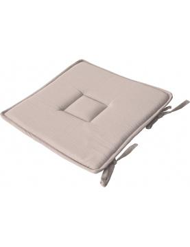 Galette plate unie en coton passepoil et nouettes