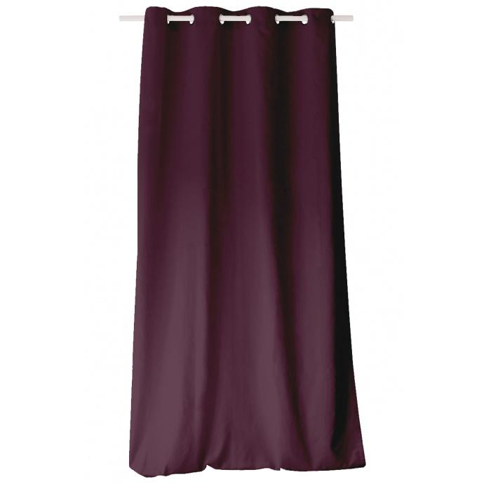 Rideau Coloré en Pur Coton 8 œillets (Anis)