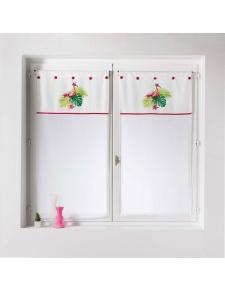 Paire de vitrages droits imprimés flamants roses