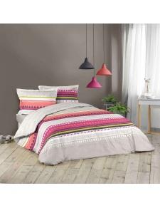 Parure de lit imprimée géométrie colorée
