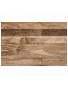 Tapis rectangulaire en vinyl imprimé bois