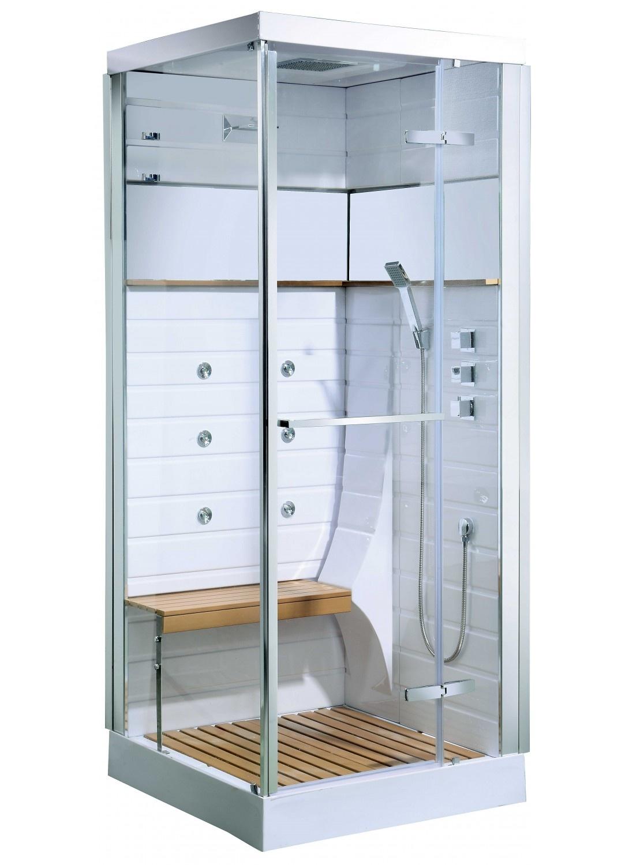 cabine de douche osaka avec porte pivotante blanc. Black Bedroom Furniture Sets. Home Design Ideas