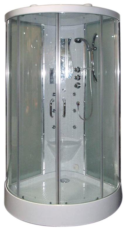 Cabine de douche Hammam 2 portes coulissantes (Chromé)