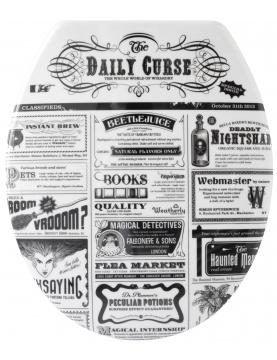Abattant WC 'News' Façon Ancien Journal