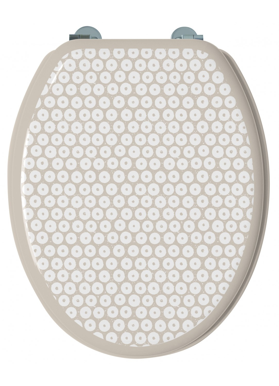 Abattant WC 'Saga' à Pois Design (Grège)