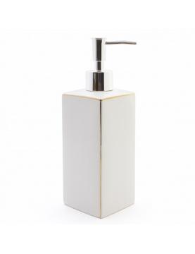 Distributeur de savon avec liseré doré