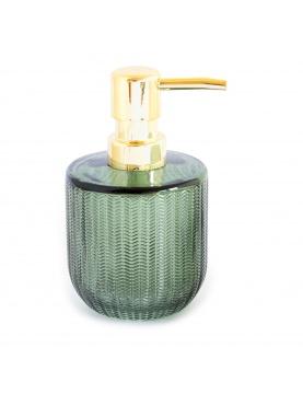 Distributeur de savon en verre relief strié