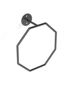 Porte serviette à anneau octogonal