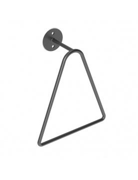 Porte serviette à anneau triangulaire