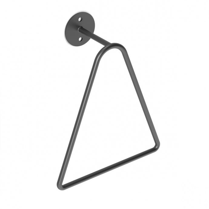 Porte serviette à anneau triangulaire (Noir)