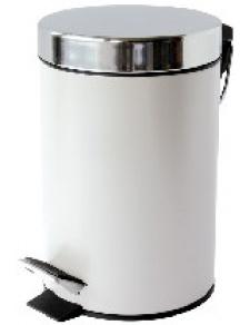 Poubelle Satin Blanc 3 Litres