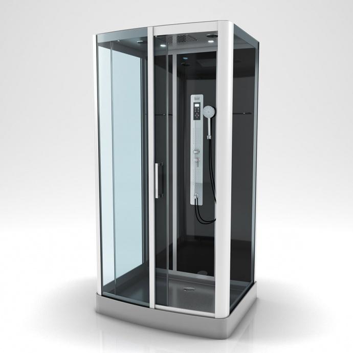 Cabine de douche à multi jets (Gris)