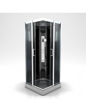 Cabine de douche carrée à multi jets
