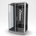 Cabine de douche rectangulaire XXL à multi jets (Gris)