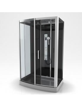 Cabine de douche rectangulaire XXL à multi jets