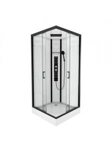 Cabine de douche carrée au style industriel
