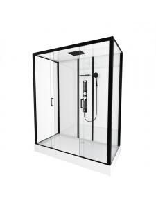 Cabine de douche XXL au style industriel