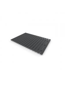 Caillebotis rectangulaire gris