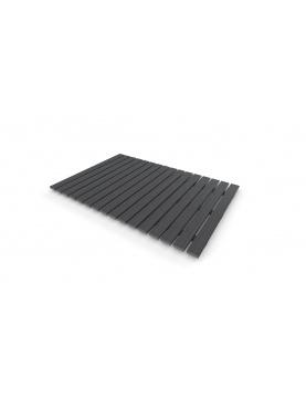 Caillebotis rectangulaire gris XXL