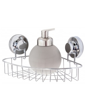 ETAGERE ANGLE BASSE FIX CHROME
