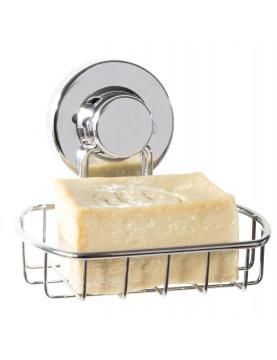 Porte savon à fixer par ventouse chromé