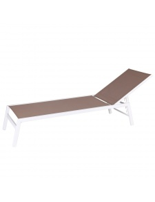 Chaise longue en aluminium blanc